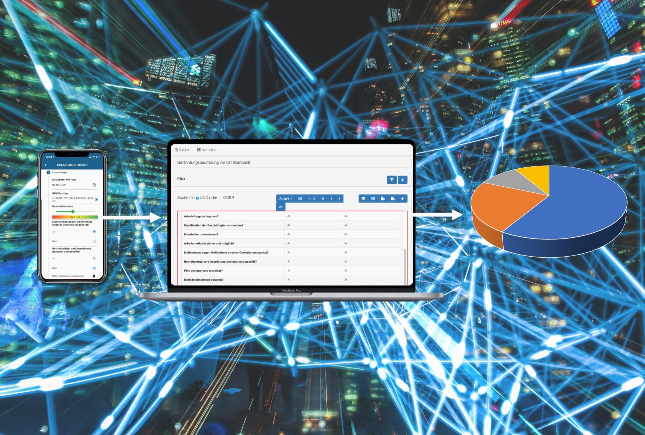 Mit Check-it können Daten erfasst und Ausgewertet werden.